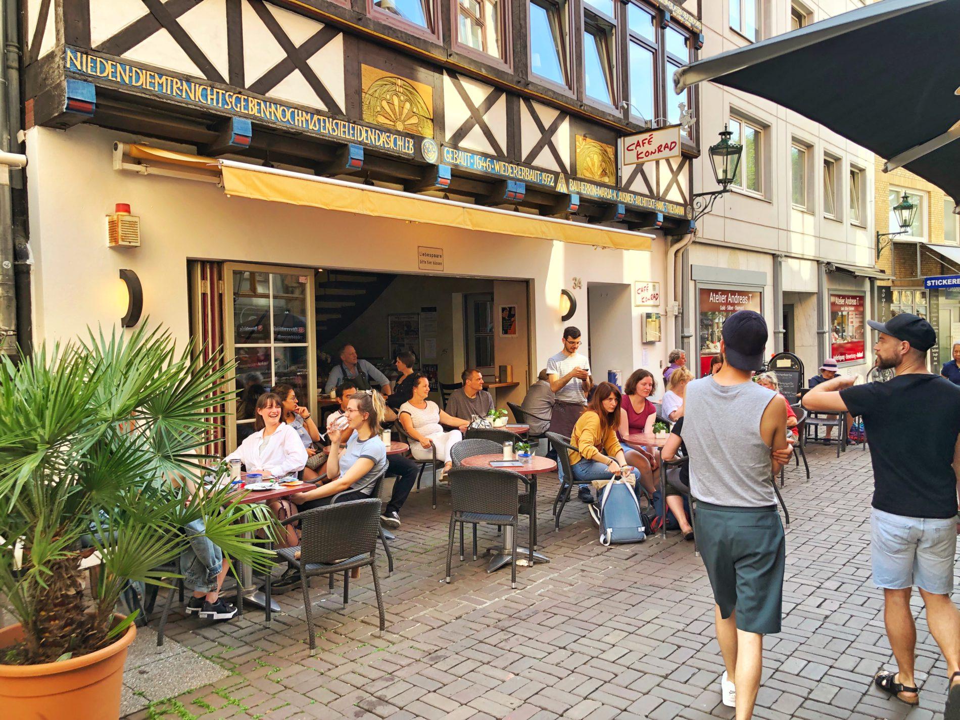 Das Café Konrad in Hannovers Altstadt