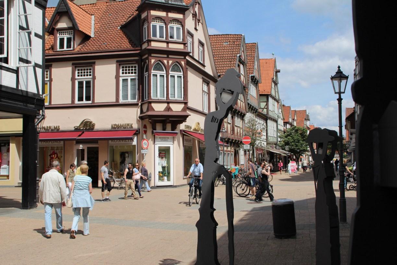 Die sprechenden Laternen in der Celler Altstadt.