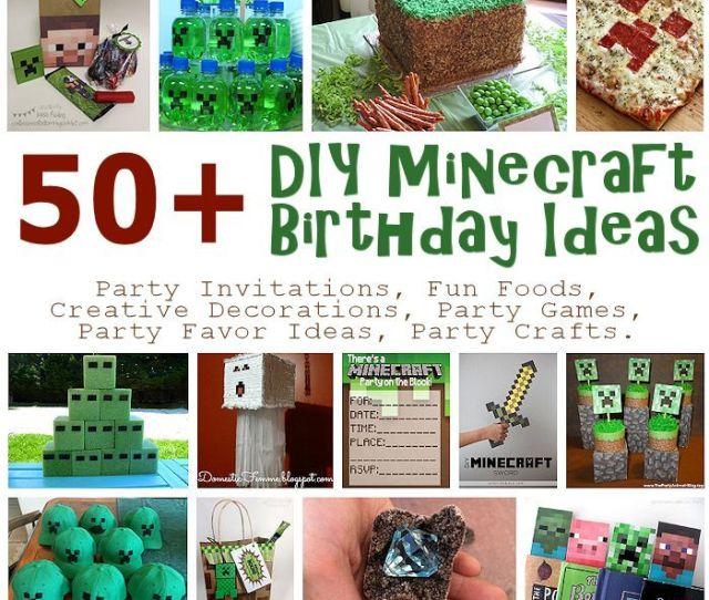 Diy Minecraft Birthday Party Ideas
