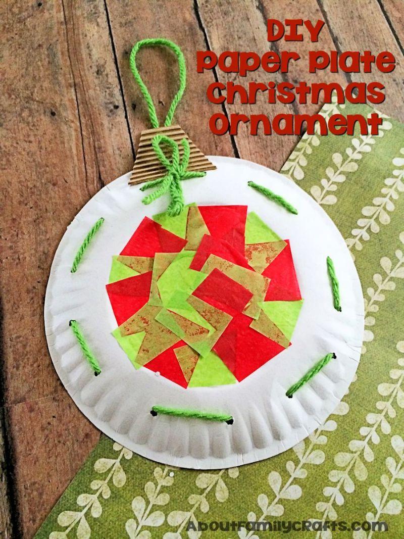 Diy Paper Plate Christmas Ornament Decoration Craft