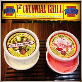 Pili & Sili Ice-Cream from Albay (1st Colonial Grill)