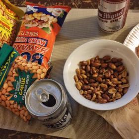 Chippy, Garlic Nuts, Peanuts, San Mig