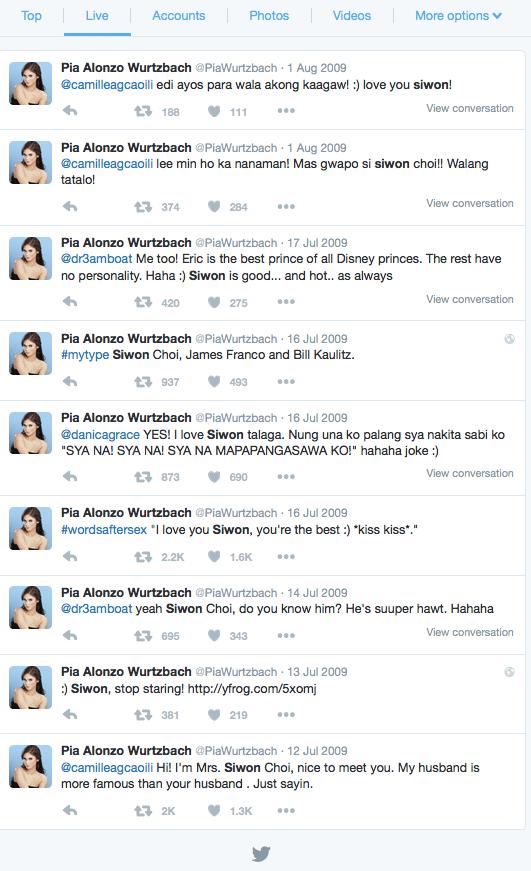 Miss Universe Tweets About Siwon Choi