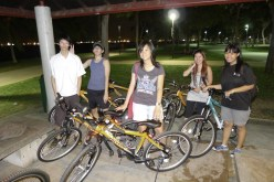 Night cycling with friends