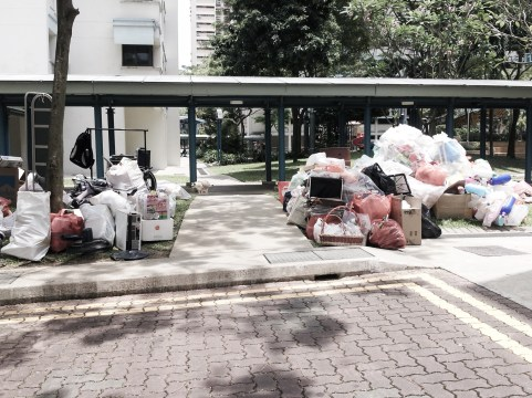 This scene is not uncommon as piles of rubbish are sold and recycled almost weekly