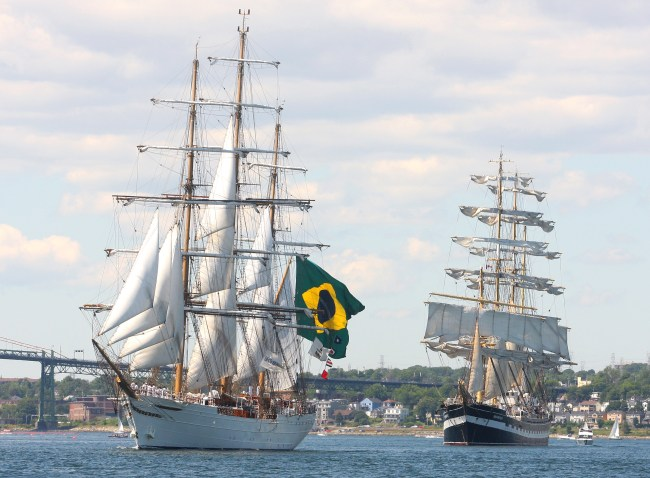 Tall Ships under sail in Halifax Harbour.