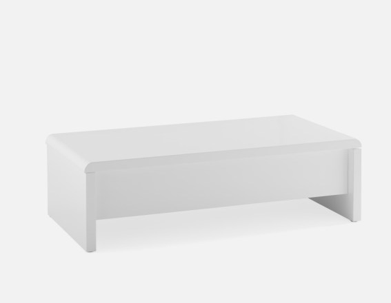 A white coffee table