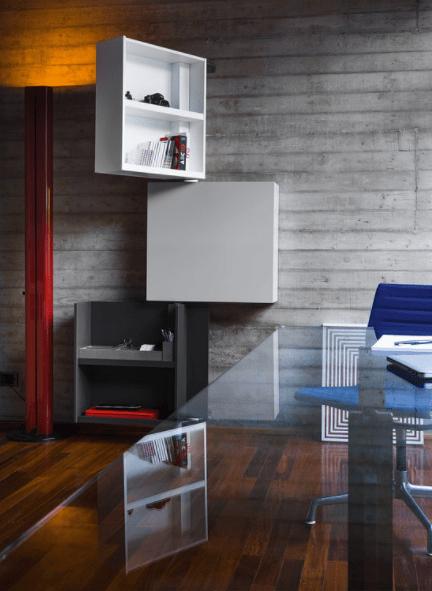 A resourceful modern shelf