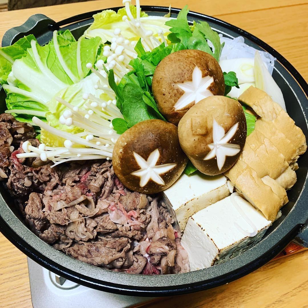 sukiyaki tofu mushrooms