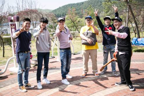 Jung Joon Young filming 2 days 1 night with 6 members