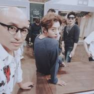 Jung Joon Young filming Old House New House with Tony Hong and Jasson