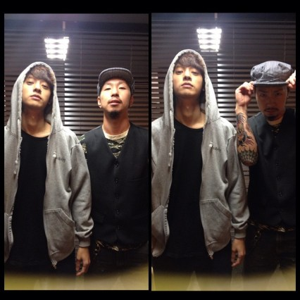 Jung Joon Young and his tattoo artist Odagil in 2014