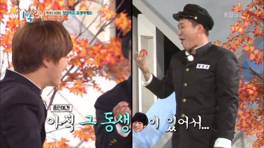 Kim Jong Min mentioning Jung Joon Young in 2 Days 1 Night
