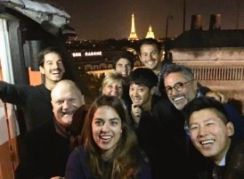 Jung Joon Young and his friends in Paris on Oct 2016