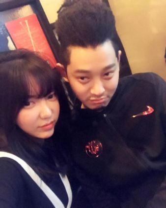 Jung Joon Young with new haircut at Seung Ri's Birthday party 2016