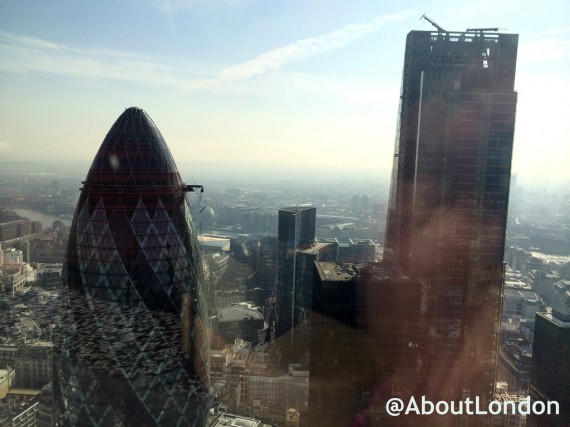 View of The City from the 38th floor of Heron Tower (officially Salesforce Tower London)