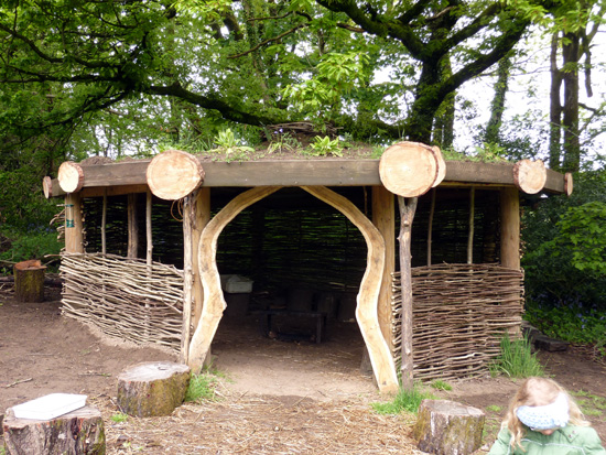The outdoor classroom at Bryngarw Country Park
