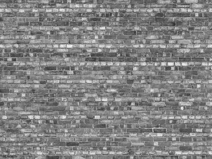 Old Brick Wall Mural Black And White Realistic Design About Murals