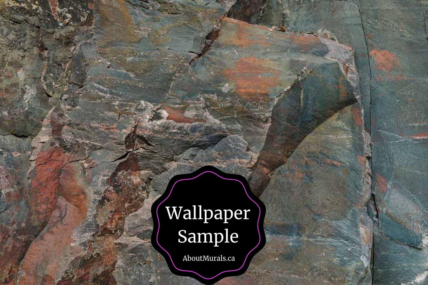 A wallpaper sample of Canadian Shield Rock Face sold by AboutMurals.ca