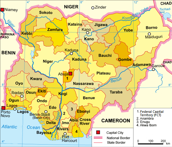 States in nigeria with their Capitals