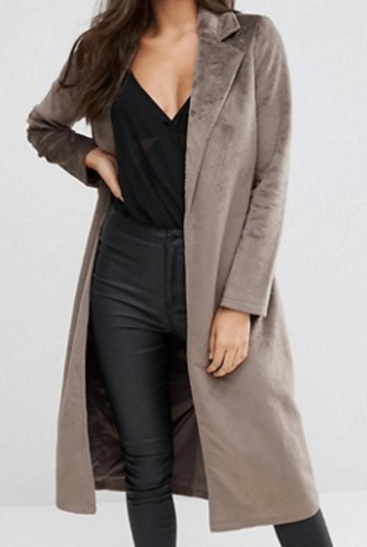 Manteau imitation peau de poney Missguided