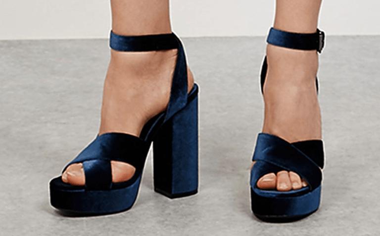 Sandales à Plateforme en Velours