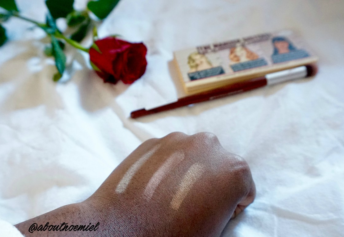 the manizer sisters the balm swatches black skin