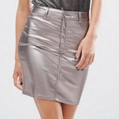 MissSelfridge Mini-jupe Effet Metallisé