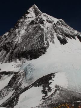 Everest summit from South Col.