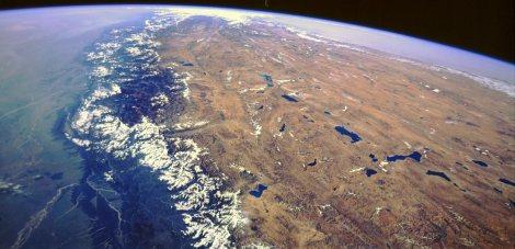 Satellite view of Himalayas