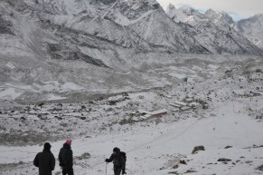 Gokyo village during winters