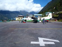 Lukla airport at Khumbu