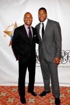 Rising Stars Jay Williams with 2009 Rising Stars Man of the Year - Michael Strahan