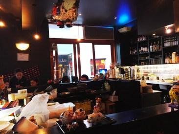Sushi kitchen inside Gypsy & Pig.