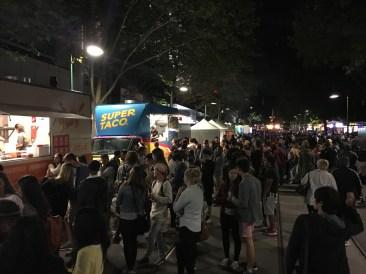 Food Truck City on Bourke St.