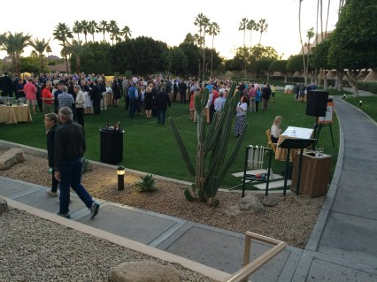Saturday evening's reception