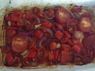 Roasted red pepper tomato chicken fajitas (6)