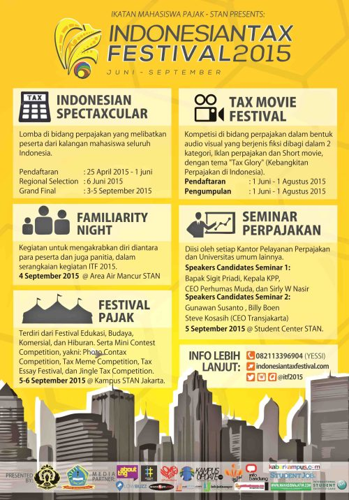 e-poster INDONESIAN TAX FESTIVAL 2015 1