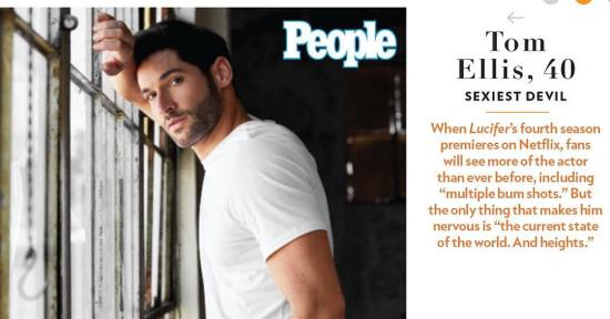 Tom Ellis People Sexiest Man Alive 2018