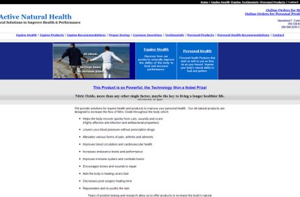 ActiveNaturalHealth.com :: Health Products Website