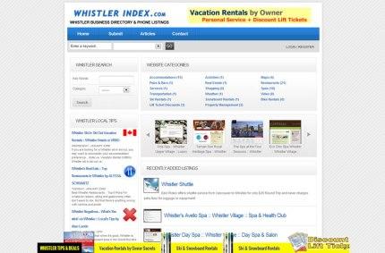 WhistlerIndex.com :: Business Directory Website