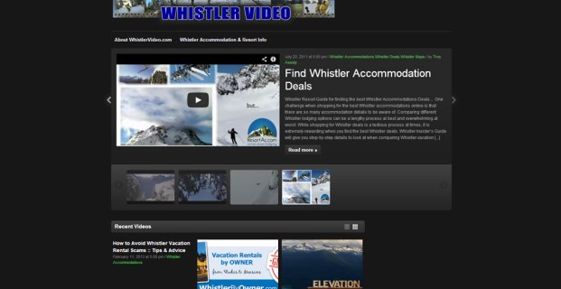 WhistlerVideo.com :: Video Curation Website