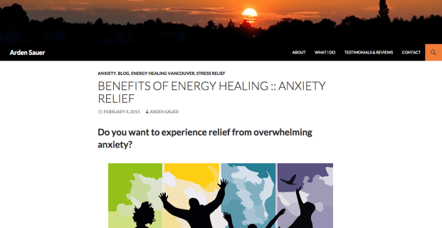 ArdenSauer.com :: Health Practitioner Website