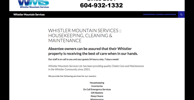 WhistlerMountainServices.com :: Service Company Website