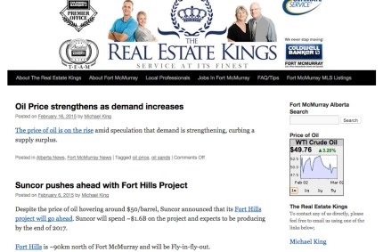 FtMcmurrayABrealestate.com :: Real Estate Blog Website