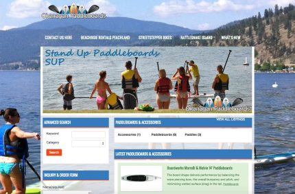 OkanaganPaddleboards.com :: Rental & Retail Website