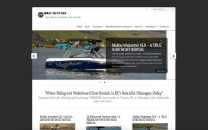 VernonBoatRentals.com Rentals Website Project