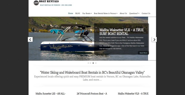 VernonBoatRentals.com :: Tourism Rentals Website