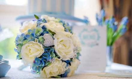 25 ρομαντικές μπλε νυφικές ανθοδέσμες