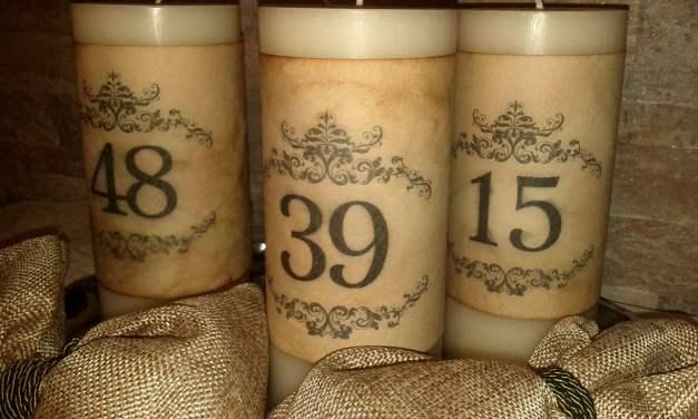DIY | Vintage νούμερα για κεριά (3)